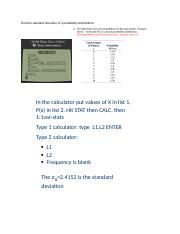 calculator - Find the standard deviation of a probability distribution.docx