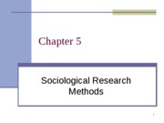 Ch. 5 Research Methods