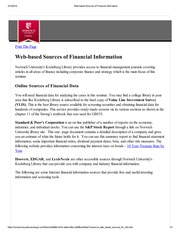 Web-based Sources of Financial Information