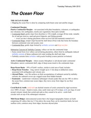Notes on The Ocean Floor