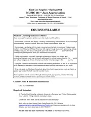 Mus 141 JA Syllabus Sp 14 W Evening