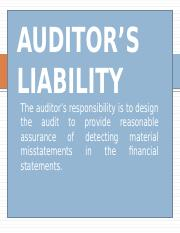 AUDITOR'S LIABILITY.pptx