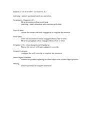 Examen1StudyList (1) - it correctly for the sentence Ser v Estar ...