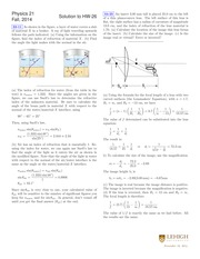PHYSICS 21 Fall 2014 Homework 26 Solutions