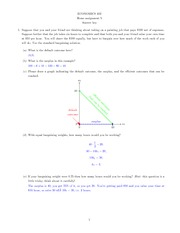 Econ 402 Homework 5 with solution