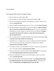 Reviewing the Basics Questions Chapter 14