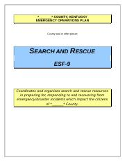ESF 09 Search and Rescue.doc