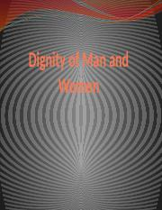 Dignity of Man and Women (1)