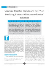 Venture capital funds and NBFCs