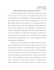 Exploring Relationsips Among Research Papers