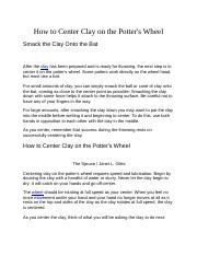 How to Center Clay on the Potter.docx