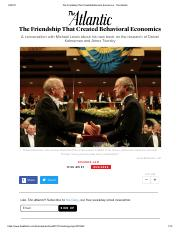 The Friendship That Created Behavioral Economics - The Atlantic.pdf