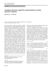Anomalous electrical conductivity and percolation in carbon