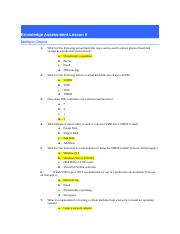 NOS 130-Lesson 8 Knowledge Assessment