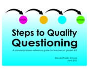 6-8 Steps to Quality Questioning with Cover