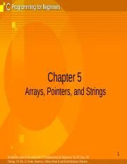 Chapter 5-Arrays Pointers and Strings.ppt