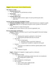 Health Care Econ Study Guide Chapter 2