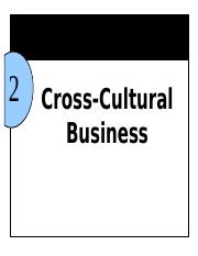 Chapter 2 cross-Cultural Business bb 2016
