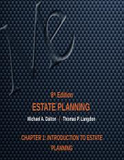CHAPTER 1 INTRODUCTION TO ESTATE PLANNING