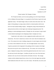 triumph of painting essays On the pleasure of painting 1  i have not much pleasure in writing these essays,  he is taken up, not with the difficulties, but with the triumph over them.