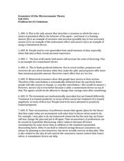 ECON1010a Fall 2014 Solutions to Pset 13