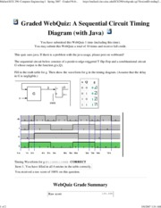 A Sequential Circuit Timing Diagram (with Java)