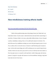 How mindfulness training affects health