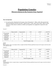 Lab 2 Population Genetics Report