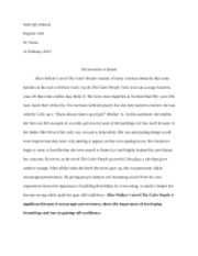 English Literary Essay