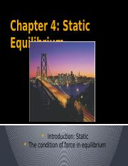 Chapter4_Static Equilibrium