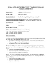 WDW205 Exam Review