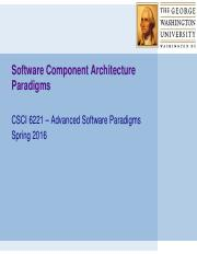 11 - Software Component Architecture Paradigms (1)