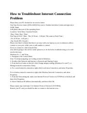 How to Troubleshoot Internet Connection Problem_sh