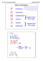 properties and pemdas notes