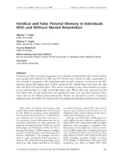 Veridical and False Pictorial Memory in Individuals With and Without Mental Retardation.pdf