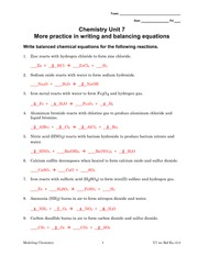 ... _Reaction_Worksheet - CHEMISTRY - CHAPTER 3: EQUATIONS BALANCING