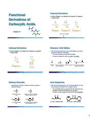 Chapter 18 (Derivatives of Carbx Acids) 6  Slides per Page