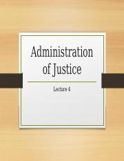 L4 Administration of Justice