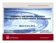 LECTURE 8 - Disability and Health%2c Education Perspectives