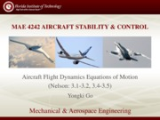 Lecture - Aircraft Flight Dynamics EOM