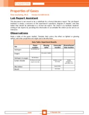 Properties of Gases - Lab