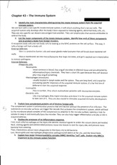 ap bio essay immune system Ap biology exam essay (free response) questions general   explain how the immune system achieves three of the following: - provides  an.