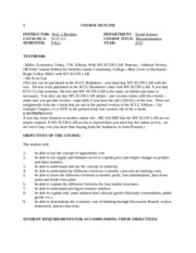 ECO112--Course Outline-online-FALL 2013