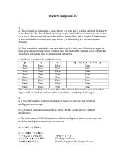 CS 2209A Assignment1 with solutions docx - CS 2209A Assignment#1 1 a