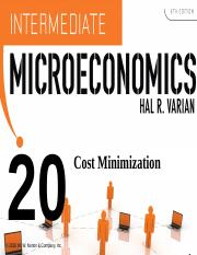 Varian_Chapter20_Cost_Minimization.ppt
