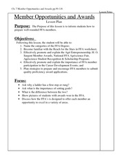 FFA Chapter 7 Lesson Plan