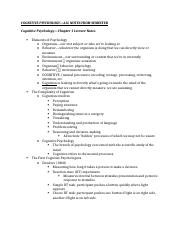 COGNITIVE PSYCHOLOGY—ALL NOTES FROM SEMESTER.docx