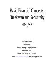 C1-1Basic Financial Concepts, Breakeven and Sensitivity analysis(1).ppt