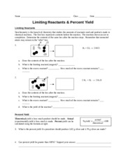 Worksheet - Lim Reactants & Per Yield (Concept & Reg)