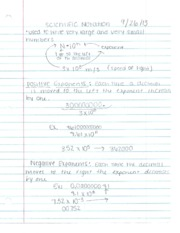 Geometry Scientific Notation notes